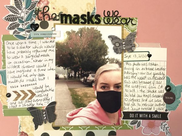 The Masks We Wear - Alison Day journaling detail